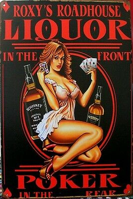 LIQUOR Vintage Retro Metal Tin Sign Plaque Garage Bar Pub Cave Home Decor Au