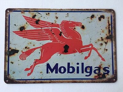 MOBILGAS Vintage Retro Metal Tin Sign Plaque Garage Bar Pub Cave Home Decor Au