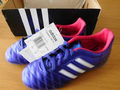 Kids Boys BNWT In Box Adidas 11Questra Purple Football Boots / Trainers Size uk