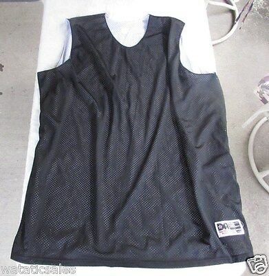 Women's Black and White Basketball Practice Jersey Don Alleson Athletic