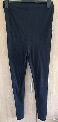 Maternity Overbump Black Leggings H&M Mama Size Medium