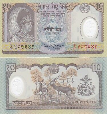 Nepal banconota 10 rupees in polimero