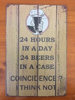 BEER  tin metal sign Rustic Look MAN CAVE brand new AU SELLER🌟