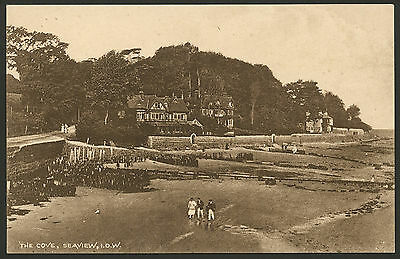 Isle of Wight. Seaview. The Cove & Duver Road. Vintage Printed Postcard
