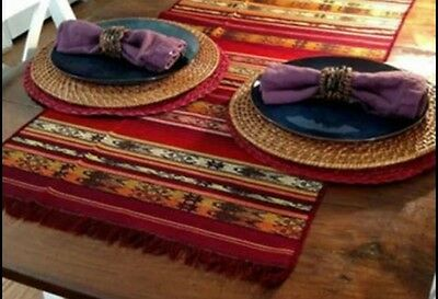 Vintage Etnic Hand Made Table Runners from Ecuador