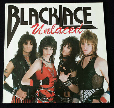 Blacklace – Unlaced - LP - 1984 Rare First Press Mausoleum Records Chastain