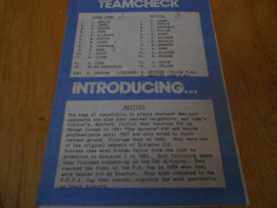 Luton Town Reserves V Watford Reserves - 28Th October,1989