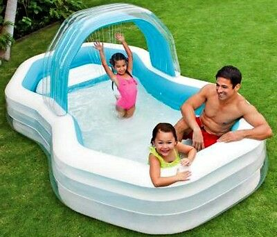 Inflatable Pool Family Lounge Garden Paddling Pool Children Outdoor Activity