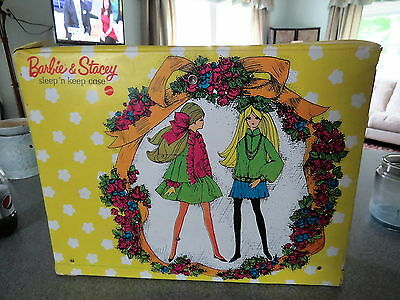 Vintage Barbie & Stacey Sleep 'n Keep Case with Dolls