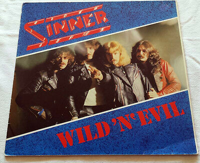 Sinner - Wild'n'Evil - LP - 1982 Rare First Press SL Records Primal Fear UDO
