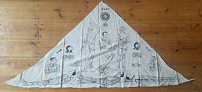 Genuine WW1 British St John Ambulance Cotton Bandage Illustrated Sling First Aid