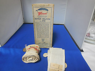 1919 Warren's Featherbone Co. Corsets Boning Belting Box With Some Product