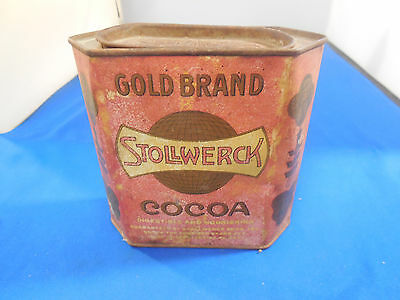 VIntage STOLLWERCK GOLD BRAND  COCOA TIN