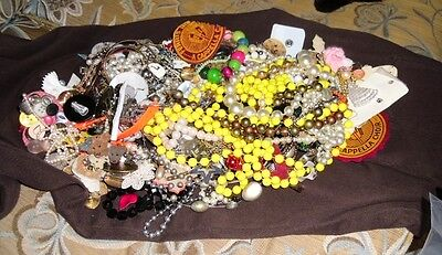 Large Five Pound Lot of Costume Jewelry - No Reserve