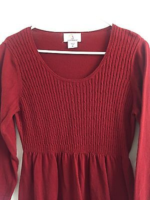 Motherhood Maternity Oh Baby Red Tunic Sweater Size Medium