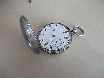 Vintage William Gray Silver Fusee Pocket Watch 1860 Working Movement