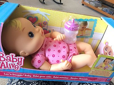 Baby Alive Luv n Snuggle Baby Blonde. New in box