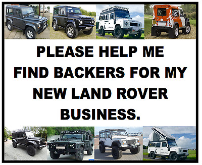 ex offender Looking for a backer of Land Rover business