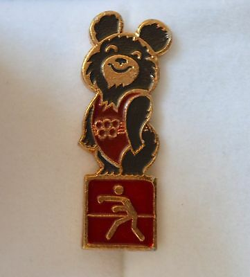 1980 Moscow Olympic Gold Bear Pin