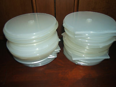 Almost New-50 Round Poly Cd/dvd Cases-Used Once