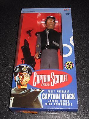 'Gerry Anderson's Captain Scarlet' Captain Black Action Figure NEVER OPENED!