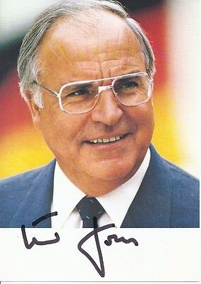 HELMUT KOHL Signed Photo Autographed 4x6 CHANCELLOR OF GERMANY Authentic COA