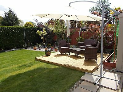 "3.6m x 3.6m garden decking kit ""CHECK POSTCODES FOR FREE DELIVERY"""