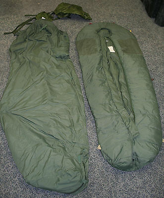 Genuine British Army Latest Issue Bouncing Bomb Sleeping Bag with Liner and Sack
