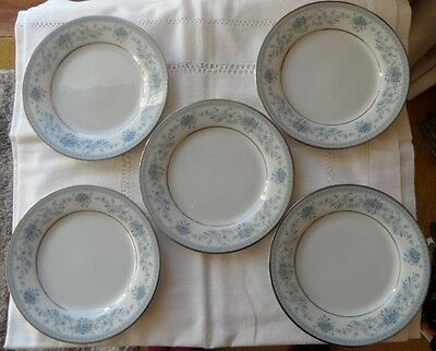 Noritake crockery Blue Hill, 5 side plates excellent cond.