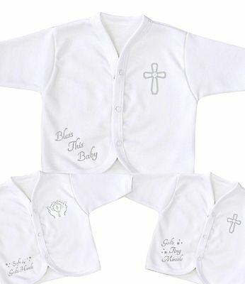 BabyPrem Premature Tiny Baby Boys Girls Clothes White Special Occasion Cardigan