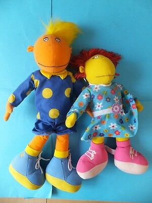 "Large Tweenie Soft Toy Figures Jake 23"" Long and Fizz 18"" Long"