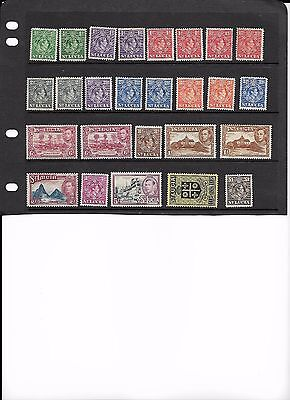 1938-48 ST LUCIA George VI set (with variations) mint. Cat. £120+