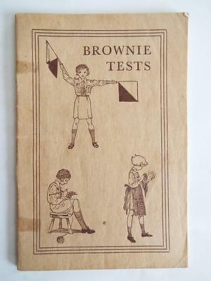 Brown Tests - Hints For Brown Owls On The Recruit - Vintage 1949 Girl Guide Book