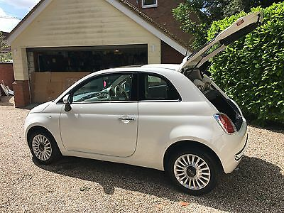 Fiat 500 lounge ivory  with panoramic glass roof