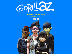 Gorillaz London O2 Standing Ticket Sold Out Concert 4/12!