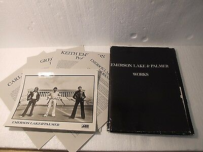 Emerson Lake and Palmer Atlantic Records WORKS VOLUME 2 Promotional Kit