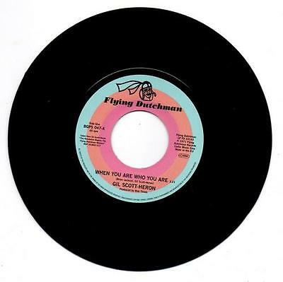 """GIL SCOTT-HERON When You Are Who You Are NEW FUNK 45 (BGP) 7"""" VINYL - SOUL"""