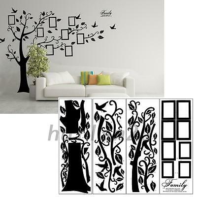 New Home Art Decor House Tree Wall Decal Sticker Removable Picture Frame Photo