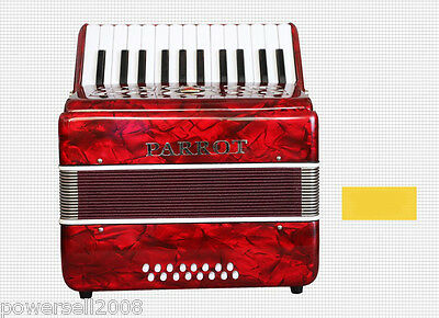 Professional 25 key 16 Bass Red Musical Instruments Accordion