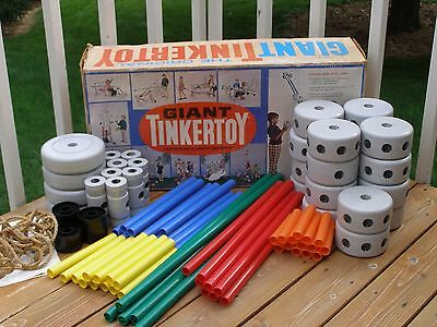 Vintage Giant Tinker Toy Building Play Set 5300 Questor  w/ Box & Instructions