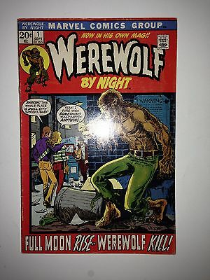 Werewolf by Night #1 (Sep 1972, Marvel) FN (4th appearance)