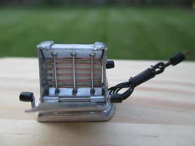 "Dollhouse Miniatures Artisan Victor Franco ""Old English Toaster"" Opens On Sides!"