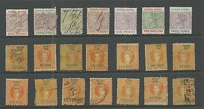 Grenada Lot Of (21)  Revenue Stamps 19Th Century Nice!