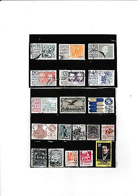 Mexico Small Collection Stamps  9 Air Mails & 10 Oddments Used