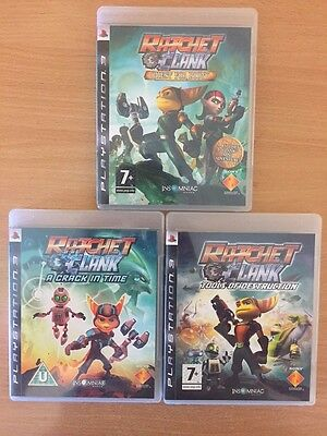 Ratchet And Clank Collection Sony Playstation 3 PS3 Game Used * 3 Games
