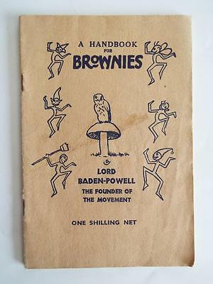 A HANDBOOK FOR BROWNIES - RARE 1948 EDITION by LORD BADEN-POWELL FOUNDER