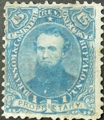 """U.s.a. #rs196 .1C.blue. """"d.ransom,son & Co"""". Fu."""