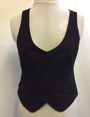 L536 Dorothy Perkins WOMEN'S BLACK WAISTCOAT SIZE UK 14