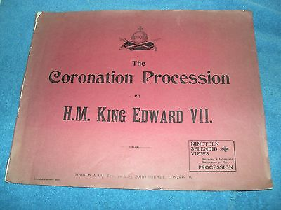 1902 The Coronation Procession of H.M. King Edward VII with 19 Views Marion & Co