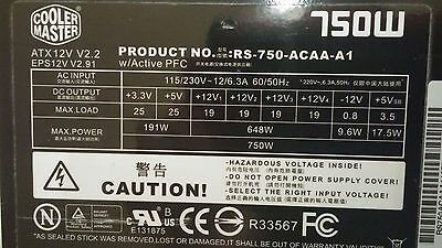 COOLER MASTER Real Power Pro 750W ATX12V / EPS12V GOLD 80 PLUS POWER SUPPLY